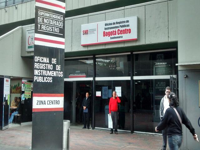 Oficina de registros públicos Bogotá